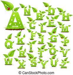 alfabet, natura