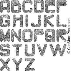 alfabet, odcisk palca
