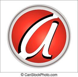 alfabet, ontwerp, logo