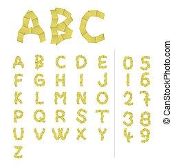 alfabet, papier, brieven