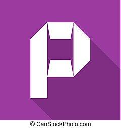 alfabet, papier, cięty, litera