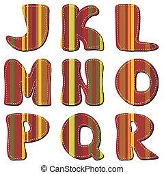 alfabet, plakboek, witte