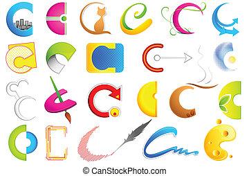 alfabet, różny, b, ikona