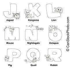 alfabet, r, kleuren, geitjes