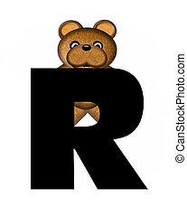 alfabet, r, teddy