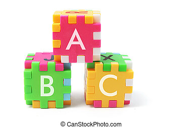 alfabet, raadsel, blokje