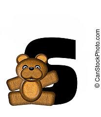 alfabet, s, teddy