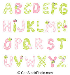alfabet, set