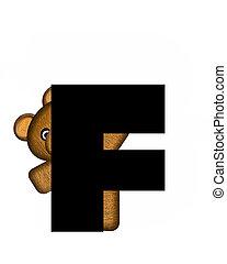 alfabet, teddy, f