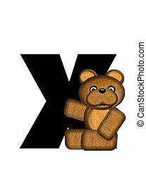 alfabet, teddy, x