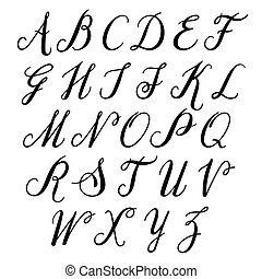 alfabet, uppercase., letters:
