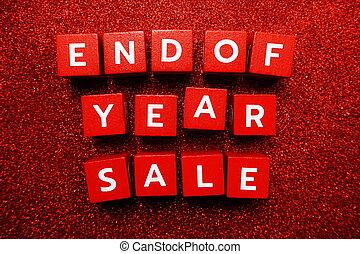 alfabet, verkoop, brief, einde, jaar