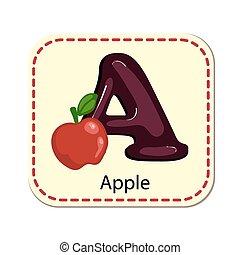 alfabet, vrijstaand, illustratie