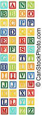 alfabet, z, blokjes, door