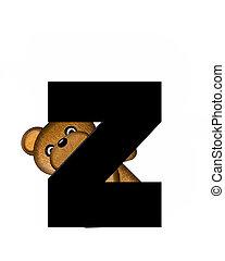 alfabet, z, teddy