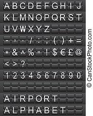 alfabeto, aeroporto