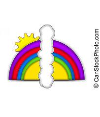 alfabeto, arcobaleno