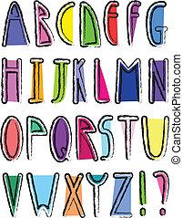 alfabeto, artístico