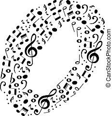 alfabeto, astratto, vettore, -, o