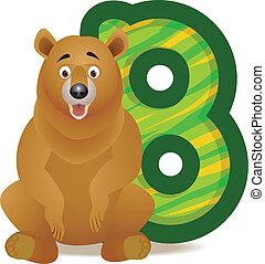 alfabeto, b, urso