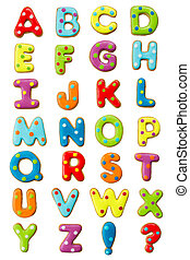 alfabeto, biscoito