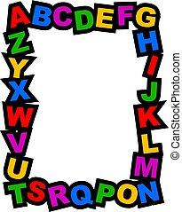 alfabeto, borda