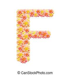 alfabeto, branca, f, isolado