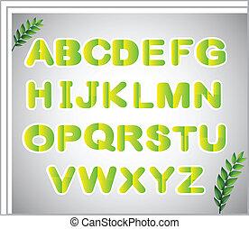 alfabeto, carta, lettere