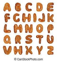 alfabeto, cartas, británico