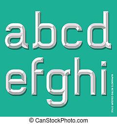 alfabeto, cor, modernos, style.