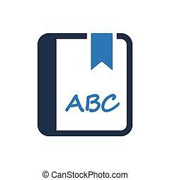 alfabeto, cultura, icona