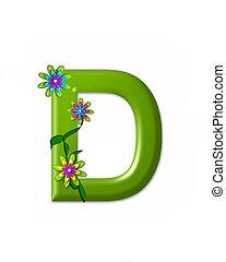 alfabeto, d, wonderland