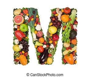 alfabeto, de, saúde