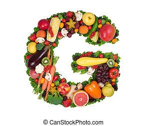 alfabeto, de, salud