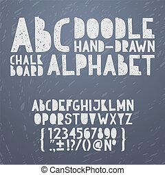 alfabeto, disegnare, grunge, abc, scarabocchiare, ...
