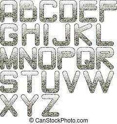 alfabeto, eps10, granito