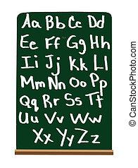 alfabeto, escuela, primario
