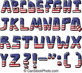 alfabeto, estados unidos de américa