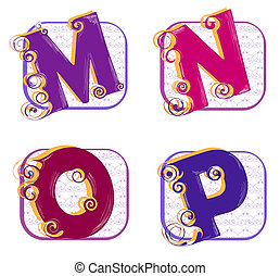 alfabeto, este prego, n, m, p