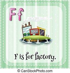 alfabeto, fábrica, f