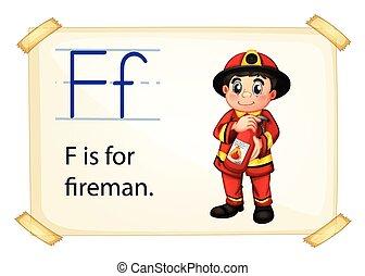 alfabeto, f