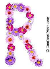 alfabeto, fiore
