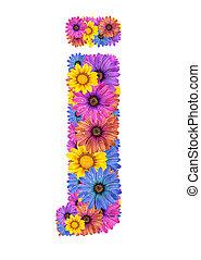 alfabeto, fiori