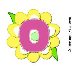 alfabeto, flor, alfinete, amarela, este prego