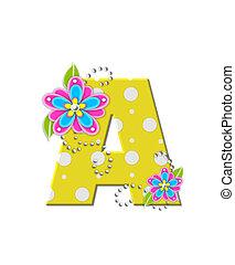 alfabeto, flores, bonny