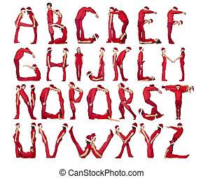 alfabeto, formado, humans.