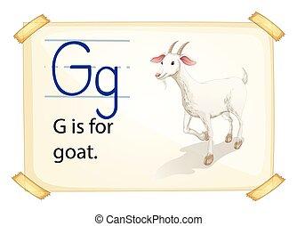 alfabeto, g