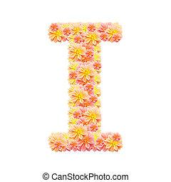 alfabeto, i, branca, isolado