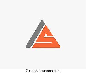 alfabeto, icona, set, lettera, logotipo