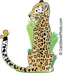 alfabeto, jaguar, animal